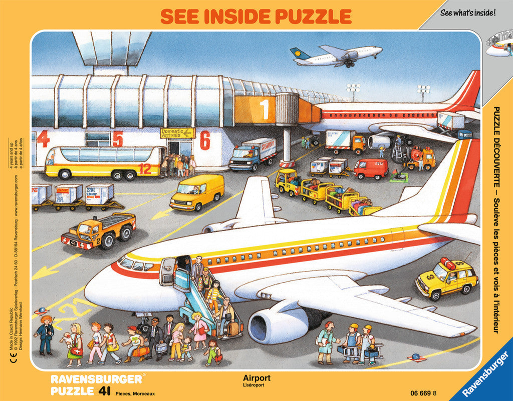 Ravensburger 41 Pieces Puzzle Board At The Airport - 06669