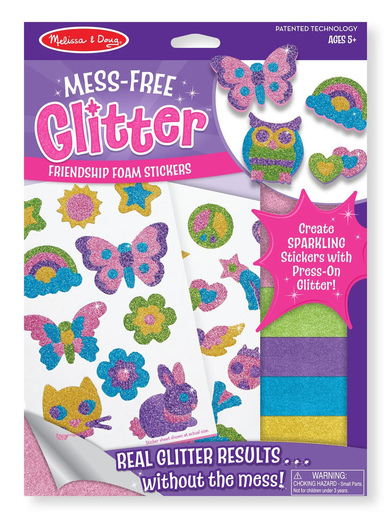 Melissa & Doug - 9500 | Mess-Free Glitter: Friendship Foam Stickers