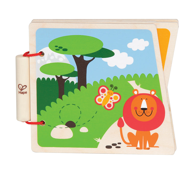 Hape At The Zoo Wooden Book - E0031