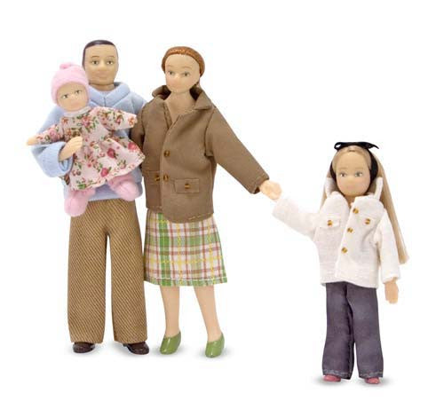 Melissa & Doug 12587 Poseable Victorian Doll Family 4 Pieces