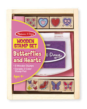 Melissa & Doug 12415 Butterfly And Hearts Stamp Set