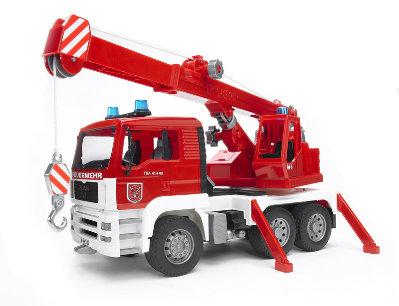 Bruder - 02770 | Construction: MAN TGA Fire Engine Crane Truck With Light & Sound