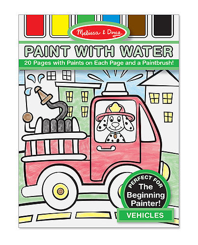 Melissa & Doug 14164 Paint With Water - Vehicles