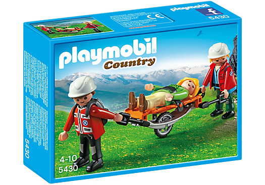 Playmobil - 5430 | Country: Mountain Rescuers With Stretcher