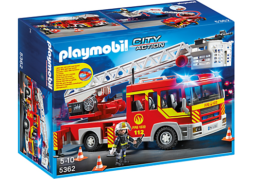 Playmobil - 5362 | City Action: Ladder Unit Fire Truck With Lights And Sound
