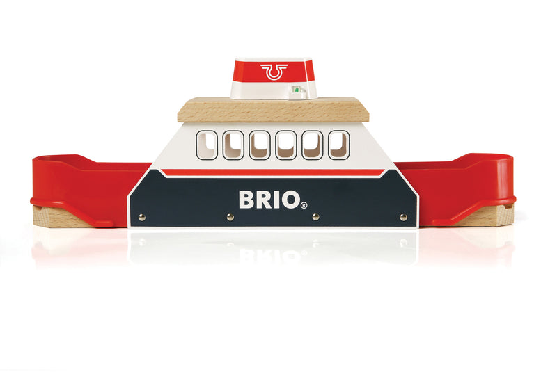 BRIO - 33569 | Ferry Boat With Wood Train Track