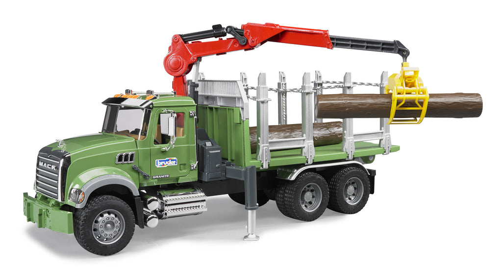 Bruder - 02824 | Forestry: MACK Granite Timber Truck With 3 Trunks