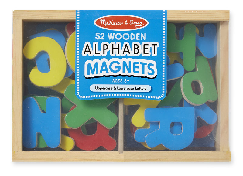 Melissa & Doug 10448 Magnetic Wooden Letters 52 Pieces