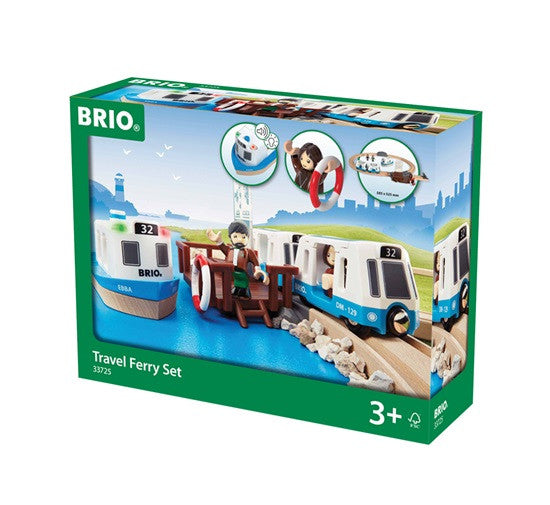 Brio Travel Ferry Set 18 Pieces Wooden - 33725