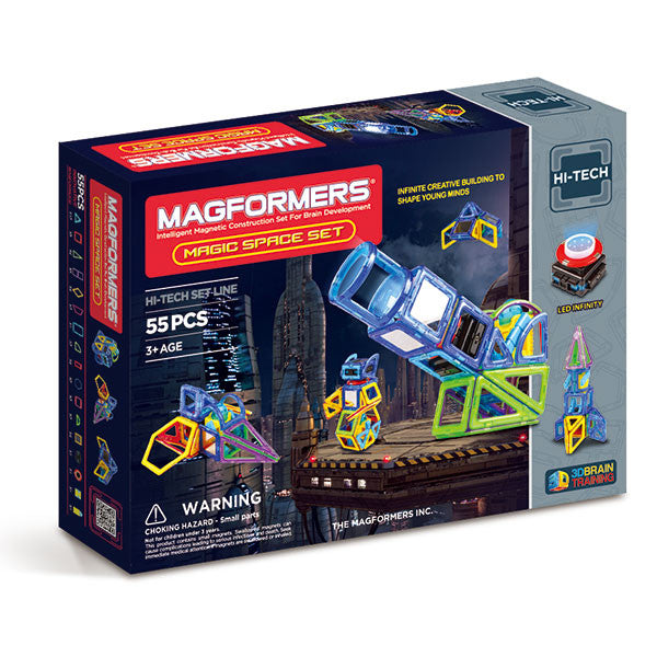 Magformers - 63140 | Hi-Tech Magic Space Set 55-pieces