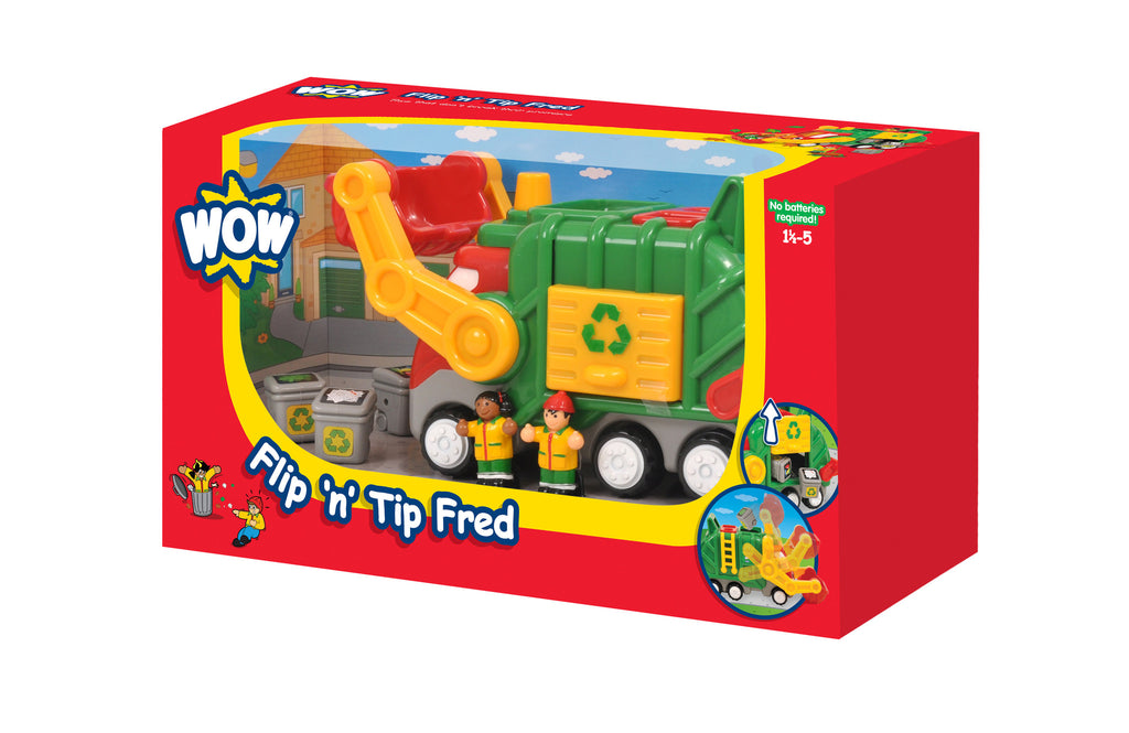 WOW Toys Flip N Tip Fred Recycling Truck