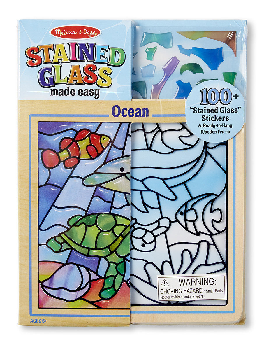 Melissa & Doug 18582 Stained Glass Made Easy-Ocean