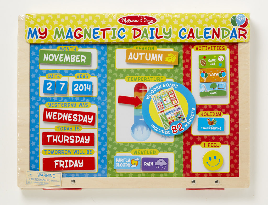 Melissa & Doug 9253 My First Daily Magnetic Calendar