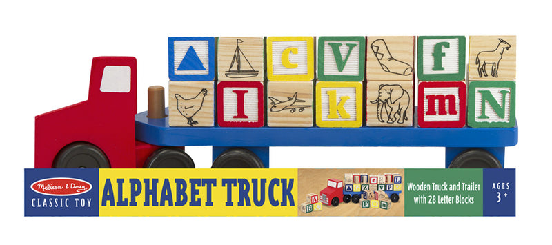 Melissa & Doug 15175 Alphabet Blocks Truck, Wooden 30 Pieces