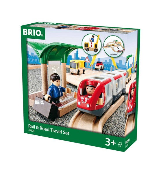 Brio Rail And Road Wooden Travel Set - 33209