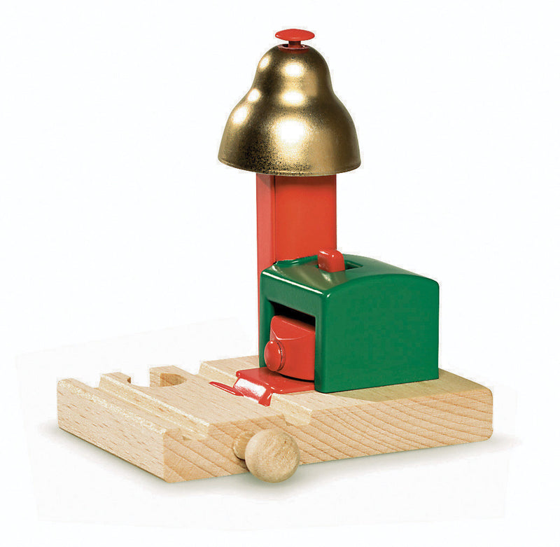 Brio Magnetic Wood Train Signal Bell - 33754