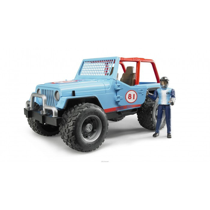 Bruder - 02541 | Leisure Time: JEEP Cross Country Racer Blue With Driver