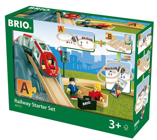 Brio Railway Starter Set 26 Pieces Wooden - 33773