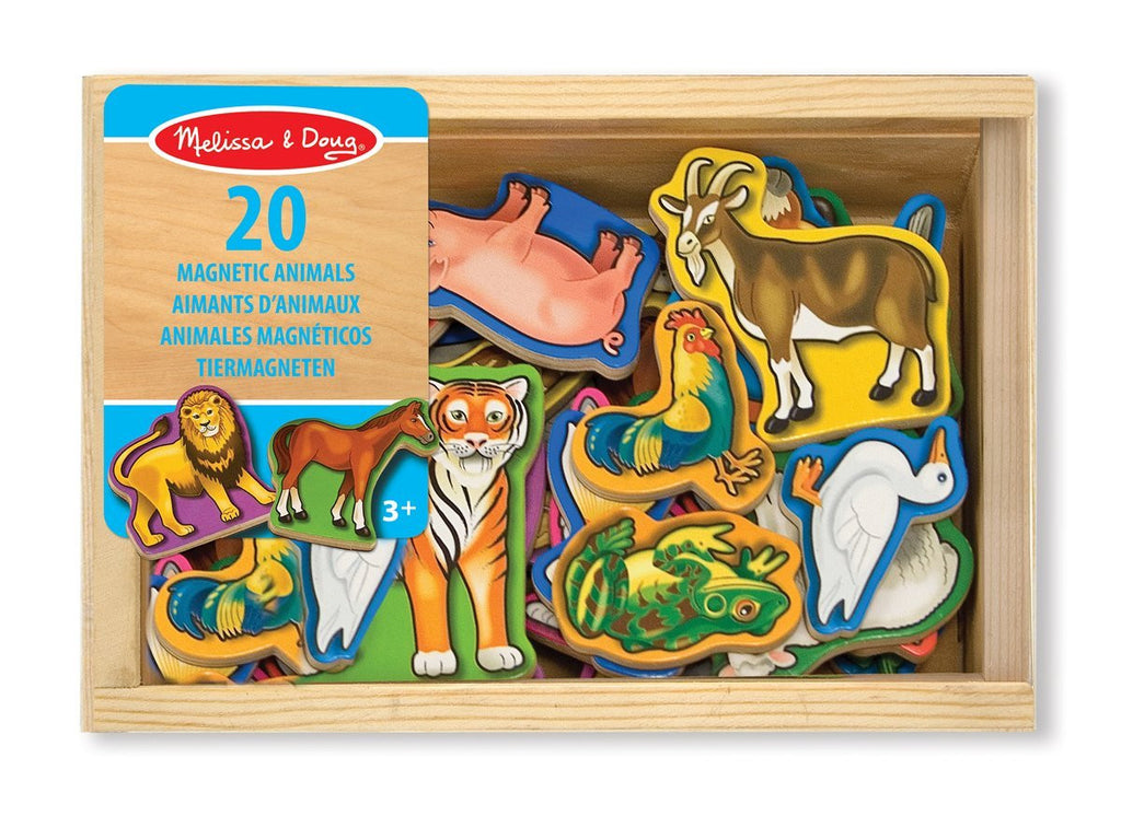 Melissa & Doug 10475 Wooden Wild Animal Magnets