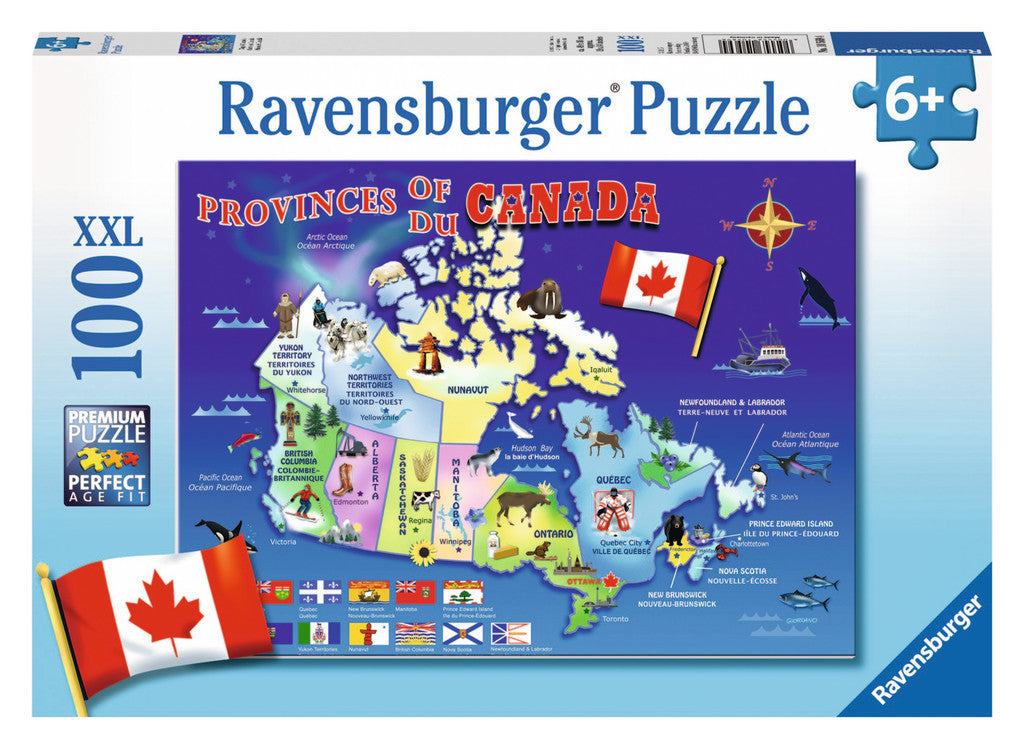 Ravensburger 100 Pieces Puzzle Map Of Canada - 10569
