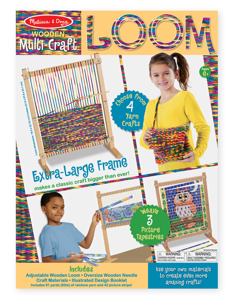 Melissa & Doug - 9381 | Wooden Multi-Craft: Weaving Loom