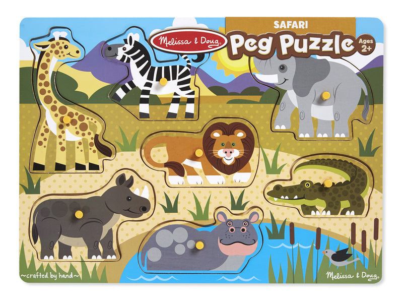 Melissa & Doug 19054 Wooden Peg Puzzle Safari