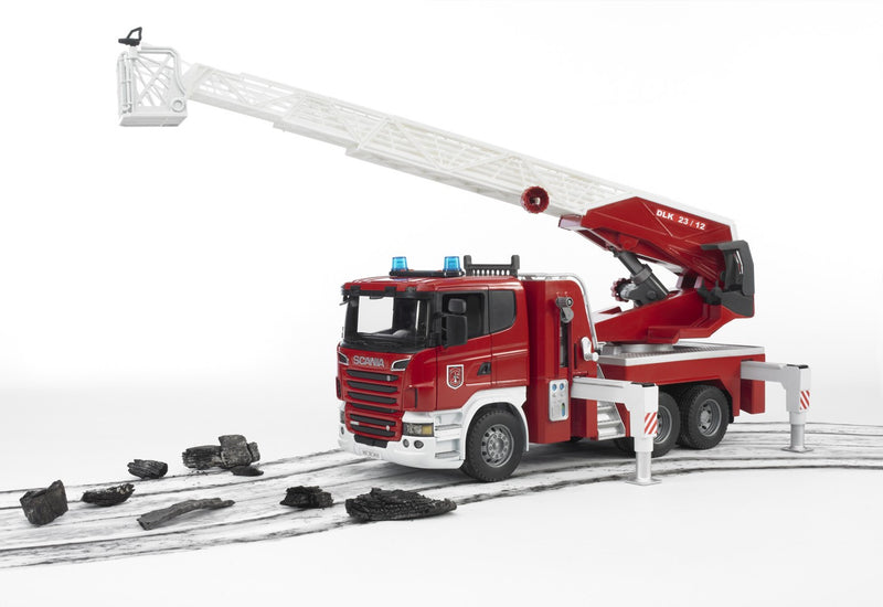 Bruder Scania R-Series Fire Engine With Water Pump & Light & Sound - 03590