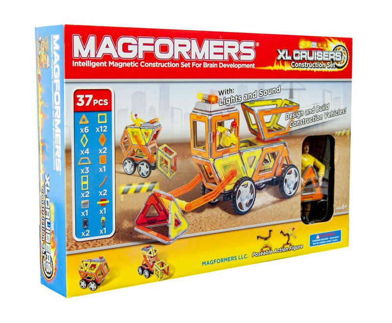 Magformers 37 Pieces XL Construction Cruiser