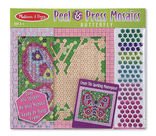 Melissa & Doug 14293 Shiny Mosaics By Number: Butterfly