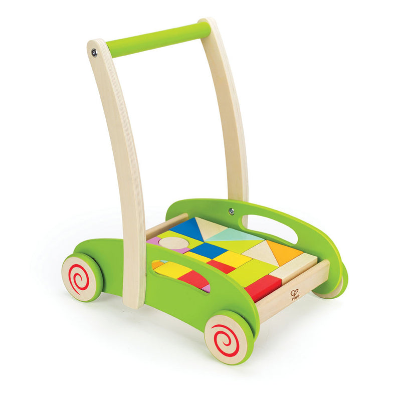Hape Block And Roll Wooden Push Toy - E0371