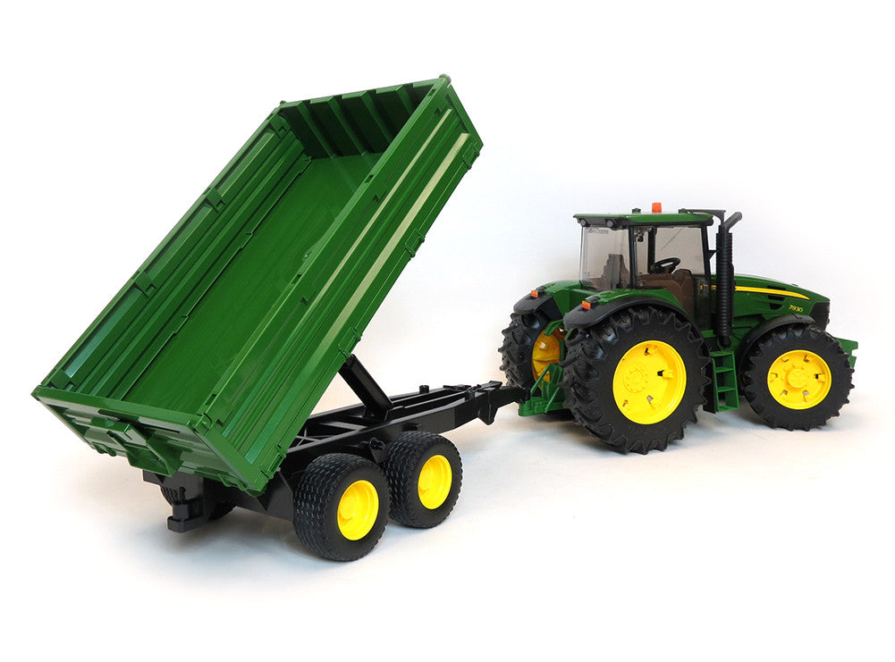 Bruder - 09810 | Agriculture: John Deere 7930 With Frontloader And Tipping Trailer