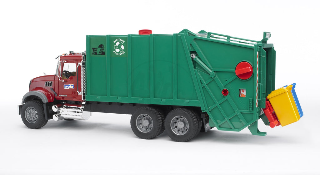 Bruder Mack Granite Garbage Truck Rear Loading - 02812