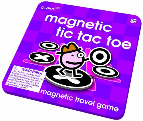 Toysmith Magnetic Tic-Tac-Toe Travel Game Goplay