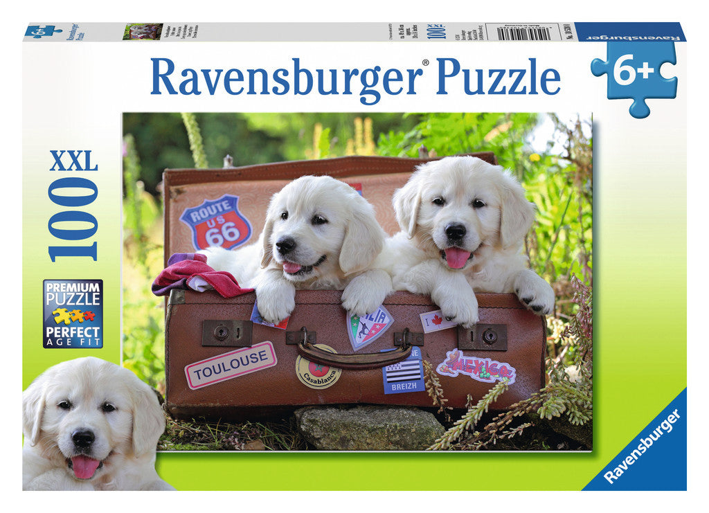 Ravensburger 100 Pieces Puzzle Traveling Pups - 10538