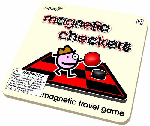 Toysmith Magnetic Checkers Travel Game - Goplay