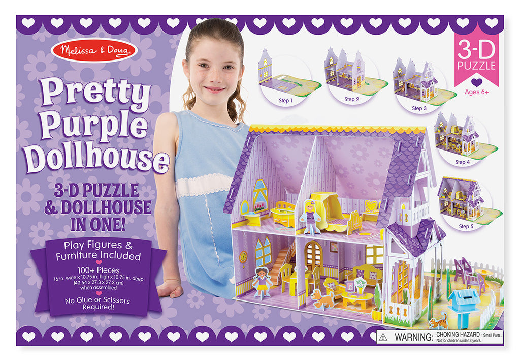 Melissa & Doug 9461 Pretty Purple 3D Dollhouse Craft