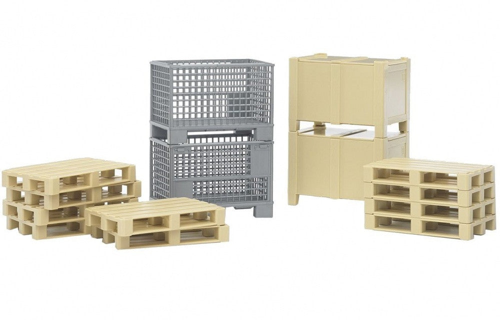 Bruder Accessories Logistics Set Bworld Crates & Pallets - 02415