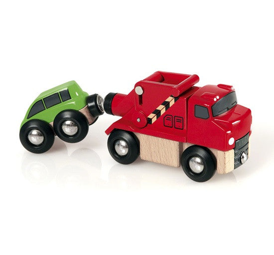 Brio Tow Truck And Car Wooden - 33528