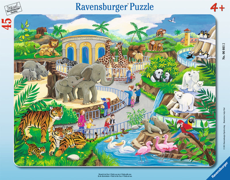 Ravensburger 45 Pieces Puzzle Board Visit To The Zoo - 6661