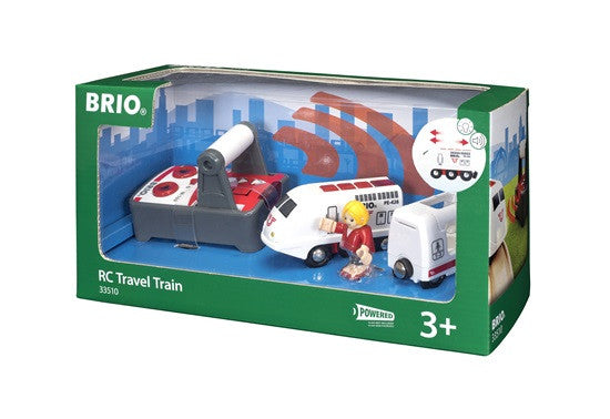 BRIO - 33510 | Remote Control Wooden Travel Train And Figure