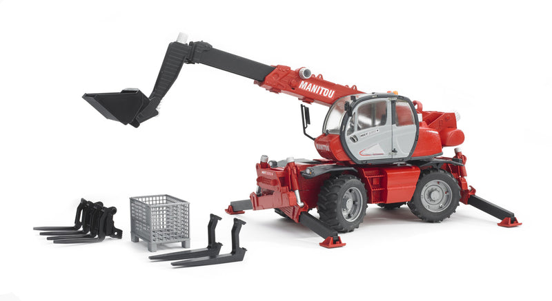 Bruder MRT 2150 Manitou Telescopic Loader Red - 02129