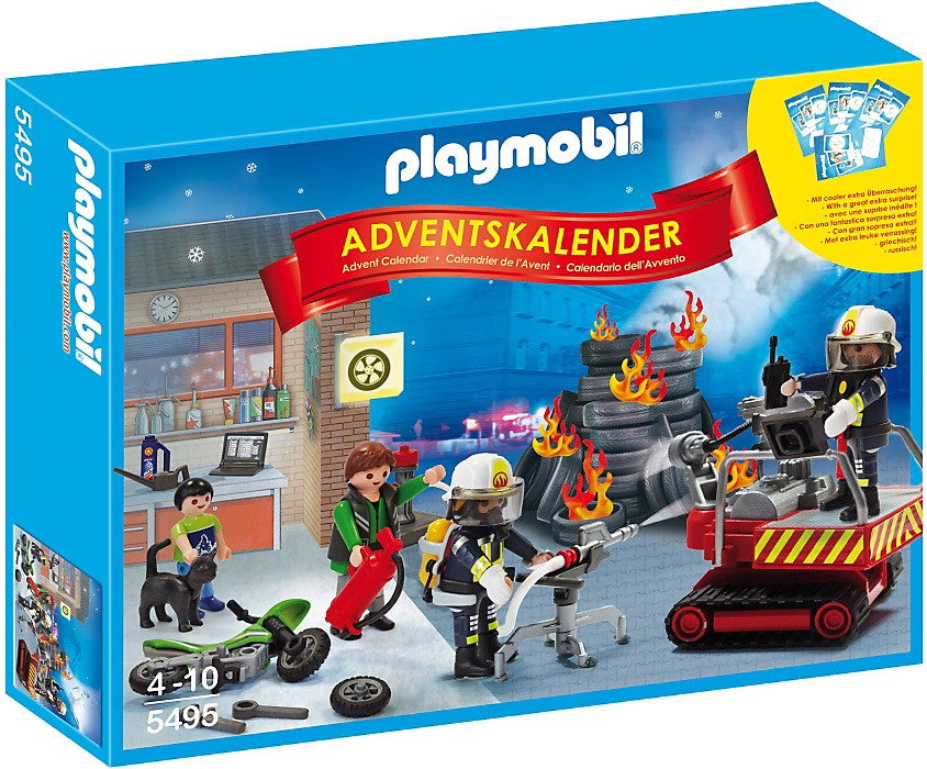 Playmobil Advent Calendar Fire Rescue & Game - 5495