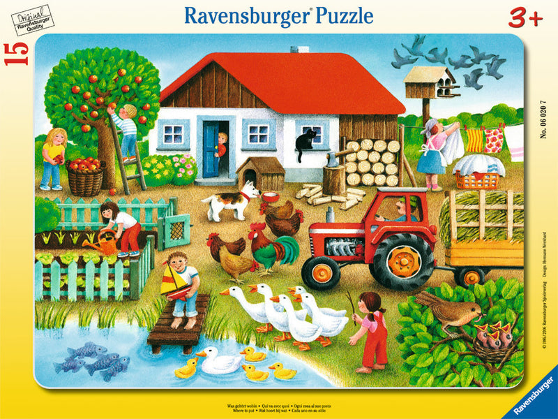 Ravensburger 15 Pieces Puzzle Where To Put It - 06020