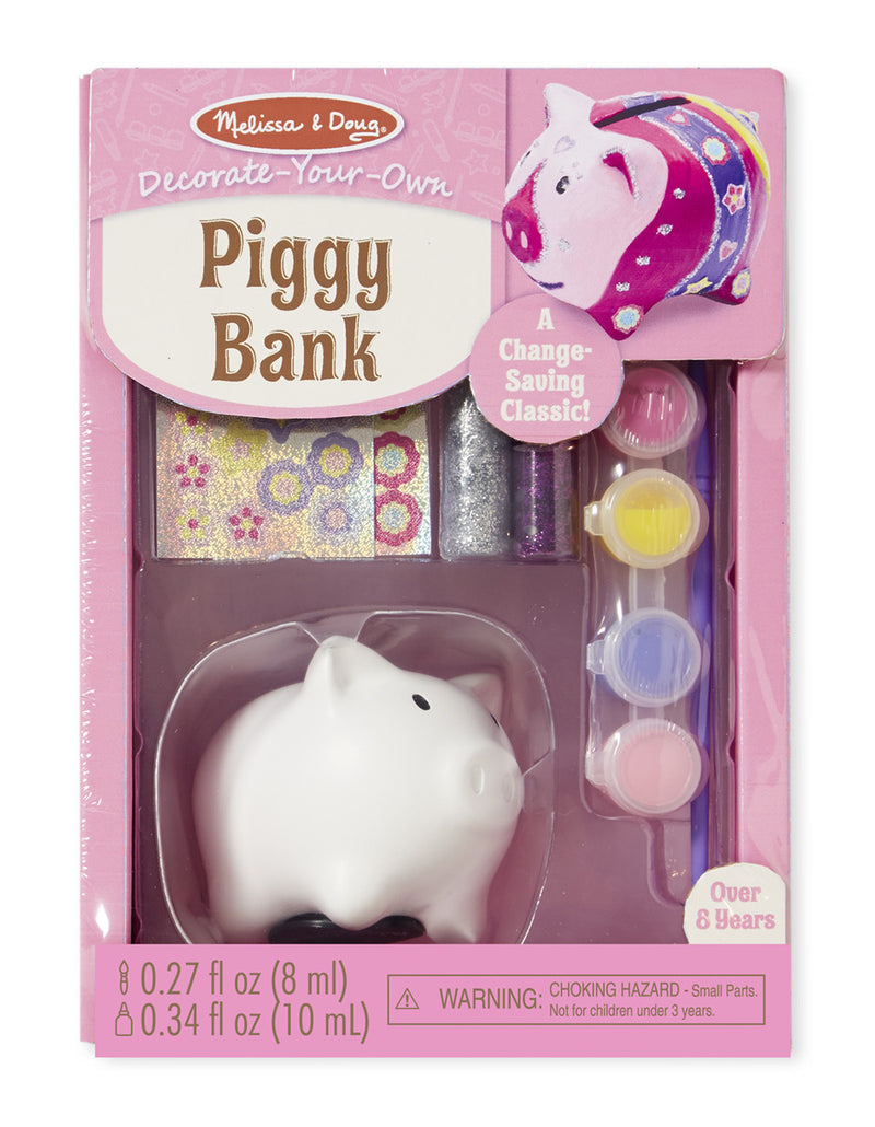 Melissa & Doug 18862 Decorate Your Own Piggy Bank