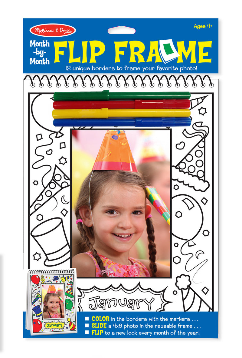 Melissa & Doug 9324 Month-by-Month Flip Frame Colouring