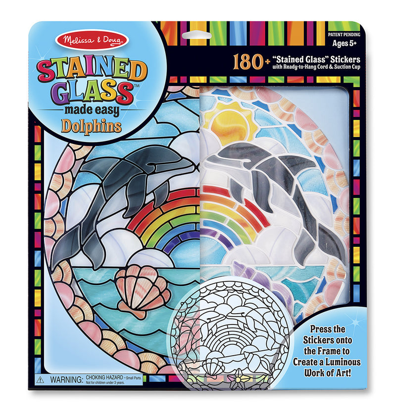 Melissa & Doug 19291 Easy Stained Glass - Dolphins