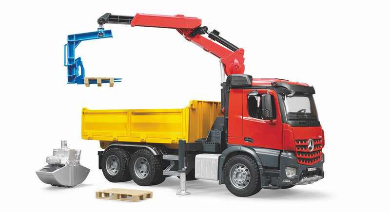 Bruder Mercedes Benz Arocs Truck With Crane And Accessories - 03651