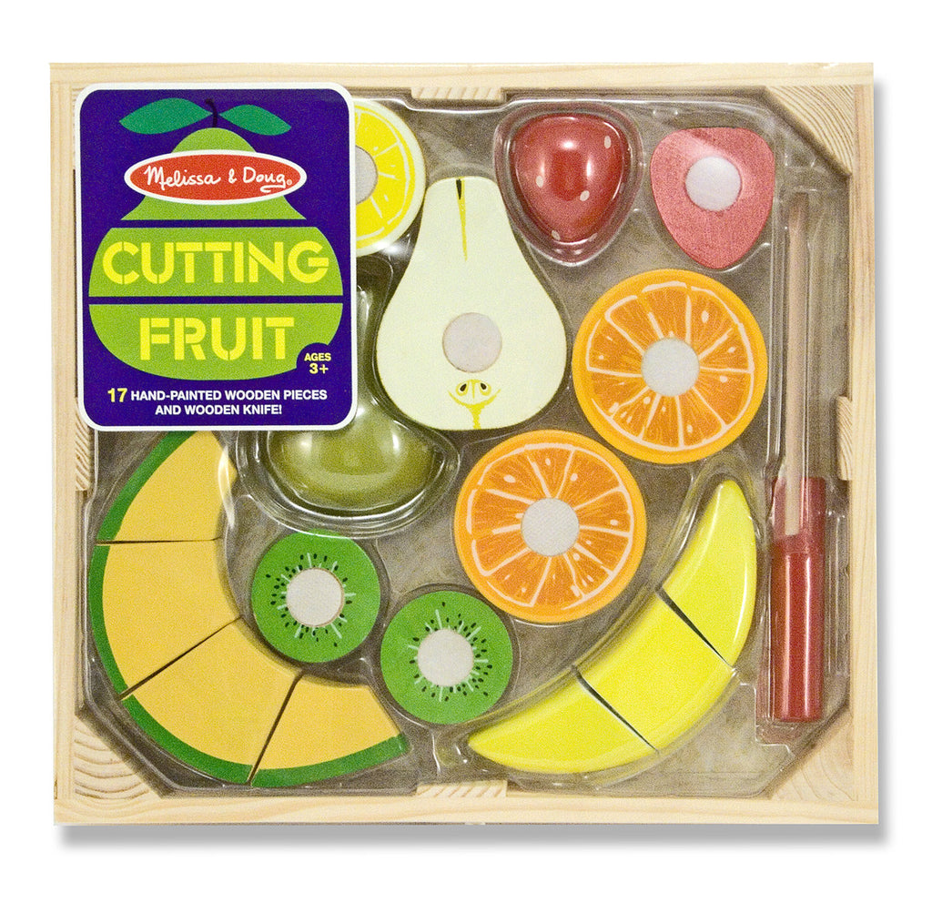 Melissa & Doug 14021 Wooden Cutting Fruit Play Set