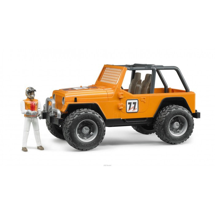 Bruder - 02542 | Leisure Time: JEEP Cross Country Racer Orange With Driver