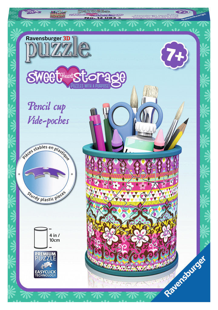 Ravensburger - 12083 | 3D Puzzle: Mary Beth Sweetheart Storage Pencil Cup